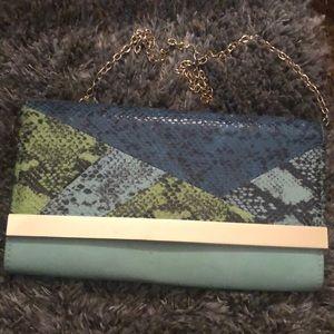 Snakeskin Aldo chain purse